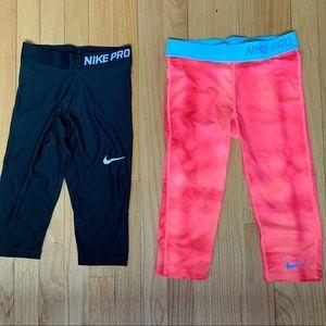 Girls Nike Capri Leggings